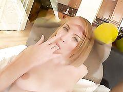 Stripping Babe Sucks Big Cock So He Will Fuck Her