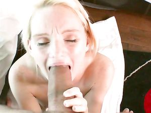 Innocent Blonde Girl Satisfied By His Big Cock