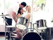 Drummer Fucks Two Beautiful Girls And Cums Hard