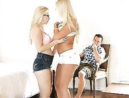 Blondes Bring Him To Bed In A Hardcore Threesome
