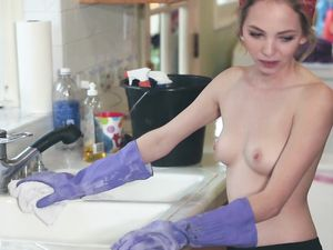 Young Maid Earns Extra Money By Fucking Her Boss