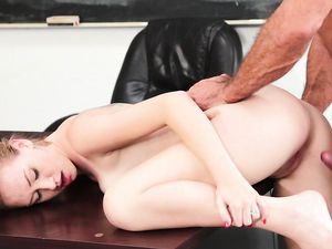 Student Creampied By Her Big Cock Teacher