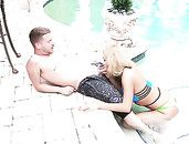 Bikini Girl With Curves Goes Home With Him To Fuck