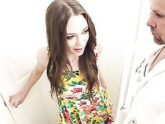 Butt Fucking A Young Lady In A Pretty Dress