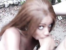 Outdoor Quickie With A Skinny Black Cutie