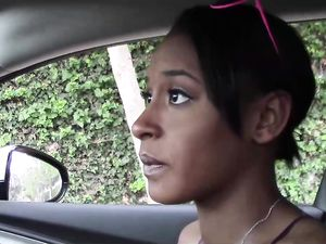 Paying A Slutty Black Girl To Fuck Him Outdoors