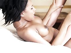 Passionate Young Black Chick Rides Dick Wildly