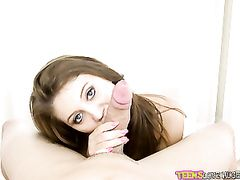 Sexy Blowjob From The Teen With Pretty Eyes