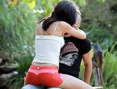 Taking A Tight Body Girl From Behind Outdoors