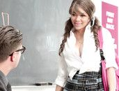 Teacher Enjoys The Cunt Of His Big Tits Student
