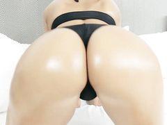 Oiled Ass Is World Class Riding A Big Dick