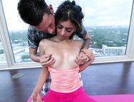 Sexy Yoga Girl Stripped Nude And Fucked Hardcore