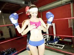 Sporty Hardcore Sex In The Boxing Ring