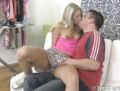 Banging The Blonde Girl In Her Tight Twat