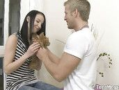 Tiny Boots Teen Girl Aroused And Ready For His Cock