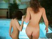Beautiful Girls Go Skinny Dipping In The Pool