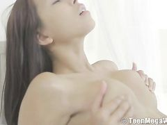 Sexy Big Tits On A Solo Masturbating Teenage Babe
