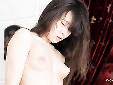 Small Tits White Girl Sucks On Big Black Dick