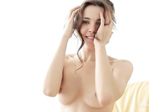 Beautiful Teen Breasts On The Sexy Solo Tease Babe
