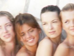 Group Photo Shoot With Breathtaking Nude Teen Babes