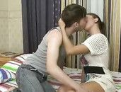 Young And Lusty Teen Likes Riding His Big Cock