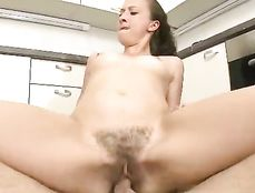 Hairy Teen Hardcore Sex With A Cute Brunette