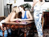 Big Pink Toy And Lesbian Girls Have A Threesome