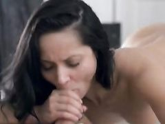 Dark Haired Beauty Is Passionate About Fucking