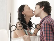 Tall And Gorgeous Teen Rides Her Boyfriend