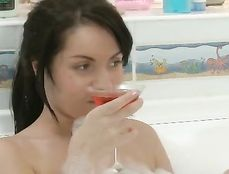 Banging In The Bubble Bath With A Teen Couple