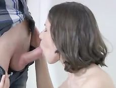 Sensual Teen BJ Makes Him Hard For Her Cunt