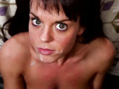 Lovely Casting Girl Takes A Nice Big Facial Cumshot