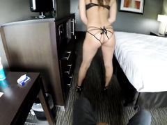 Escort Brought Lingerie To Make His Dick Hard