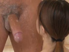 Soapy Shower Handjob From A Petite Asian Beauty