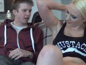 Bossy Teen Beats Him Off And Makes Him Eat Pussy