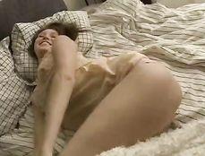 Sheer Pink Panty Masturbation With A Teen Beauty
