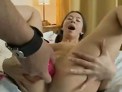 Moaning Teen Gets Wet From Lusty Dildo Play