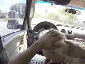 Car Blowjob Gets Him Hard For This Blonde Amateur