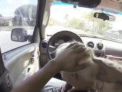 Car Blowjob Gets Him Hard For This Blonde Amateur