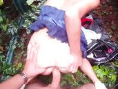 Public Cock Riding Sex With A Teen In A Miniskirt