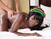 Hot Body Black Girl Oiled For Interracial Sex