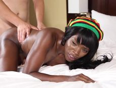 Hot Body Black Girl Oiled For Interracial Sex