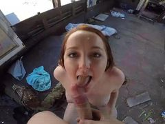 Milky White Girl Paid To Fuck In A Public Place