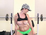 After Workout Hardcore With The Busty Inked Babe