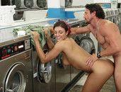 Enjoying Pussy And Cumming Hard On Laundry Day