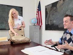 Cock And Cum Loving Schoolgirl Fucks Her Teacher