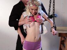 Petite BDSM Slut Is His Personal Sex Toy
