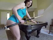 Girlfriend In Lace Lingerie Fucked On The Pool Table