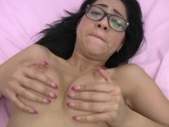 Homemade Creampie With The Big Tits Nerd