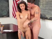 Schoolgirl Worships Teacher Cock And Gets Laid
